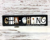 Cha Ching Sign, Etsy Seller, Cha-Ching Sign, Etsy Seller Gift, Crafter Gift, Wood Sign, craft room decor, gold silver black white wood sign