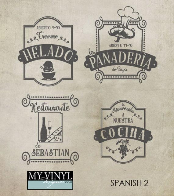 Kitchen Signs In Spanish: Spanish Restaurant SVG Files Kitchen Decor Cuttable SVG