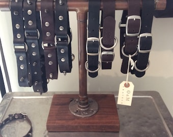 Handcrafted leather dog collar (medium)