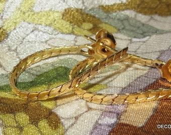 Gold Filled Hoop Earrings Pierced
