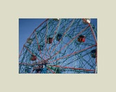 Coney Island Wonder Wheel Ferris Wheel Amusement Park Ride 5x7 print with 8x10 mat