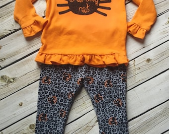 Girl's Halloween leggings and shirt- From the Fall 2016 Collection by Melon Monkeys