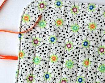 Crochet Hook Organizer  DPN Storage Case Flower So Happy gift for knitter Pencil case makeup brush organizer