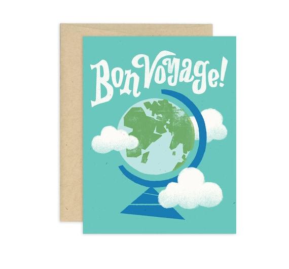 Bon Voyage Illustrated Greeting Card
