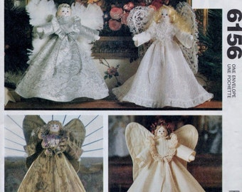 McCall's 6156 Angel Treetopper or Centerpiece 4 Styles   13 .5 Inches Tall Uncut New