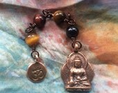 The Loving Kindness Mala in Copper and Tiger Eye. A fundraiser for Alzheimers Research