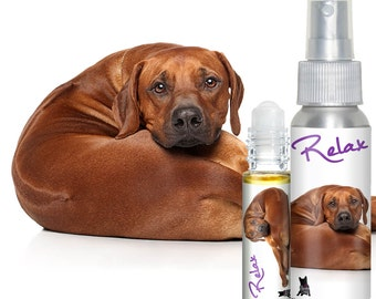 Is Your Rhodesian Ridgeback Afraid of Fireworks? Terrified of Thunder? RELAX Aromatherapy for Anxiety Stress Relief for Dogs Roll-on & Spray