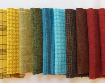Hand Dyed Felted Wool Fabric in a Beautiful Collection of Colors a Perfect Rug Hooking Wool