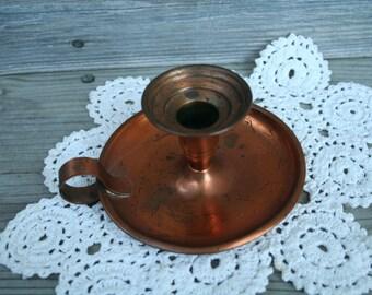 Vintage Copper Candle Holder