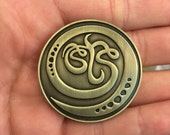 Antique Gold STS9 pin by Claire Godbee ~