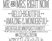 MTF Mr. & Mrs. Right Now Font