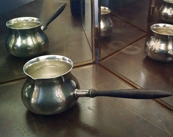Antique Silver Pitcher Sauce Boat Vintage Serving Display
