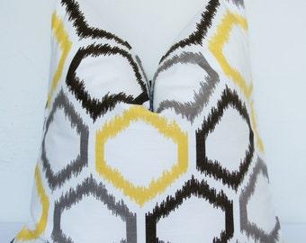 10% Off Yellow Ikat Pillow Cover, Robert Allen, Dwell Studio, Designer Pillow, Decorative Pillow, Throw Pillow, Toss Pillow, Home Furnishing