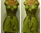 Olive Corset Dress Short Above Knees Custom Colors Gretel Plain Womens