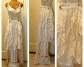 "Bridal Slip Dress Vineyard Wedding Size Small 34"" Bust Cream Ivory Lace Fairytale Fairy Classic Romantic Offbeat Destination by Savoyfaire"