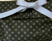 Dog Diapers Britches or Panties Grey Polka Dots on Black