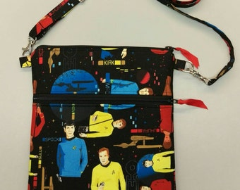 Star Trek handmade messenger bag, purse, tablet case