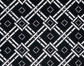 SALE Free Spirit Dena Designs CHINOISERIE Chic -ESPALIER Black DF197   1 Yard Cut