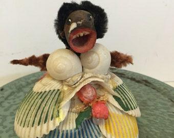 Black anericana folk art, shell art