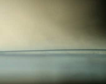 sunless sea, abstract ocean photo, wall hanging, wall decor, dreamy photo, evocative photo, abstract wall art, light blue, baby blue, cream