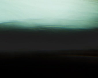 Wave of Poetry, green, black, mysterious seascape, abstract oceanscape, wondrous photo, art for the home, dark photo, frances seward, large