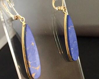Lapis Blue Howlite Earrings