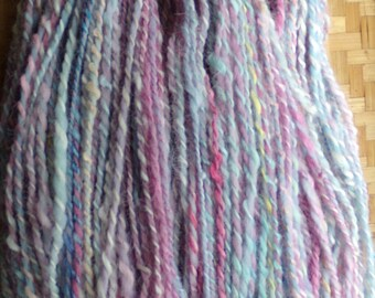 Hand Spun Suri Alpaca and Falkland Sheep Wool Yarn 150 Yarn Worsted Weight 10-12 wpi