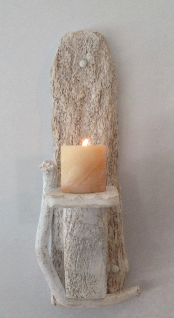 Nautical Candle Wall Sconces : Driftwood candle holder Sconce Sculpture Nautical Marine