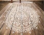 Mandala Stencil Prosperity - Mandala Stencil for Furniture, Walls, or Floors - DIY Home Decor - Better than Decals
