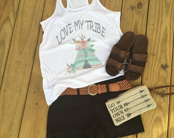 Love my Tribe custom tank shirt vintage soft