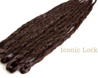 10 Warm Brown Synthetic dreads, synthetic dreadlock extensions, dreadlocks, dreads, synthetic dreadlocks, dreadlock extensions, dread knotty
