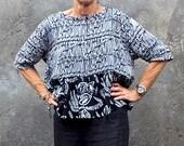 Nyoman Crop Top, Sizes XS - L, Bali Batik, Rayon, My Bali Closet