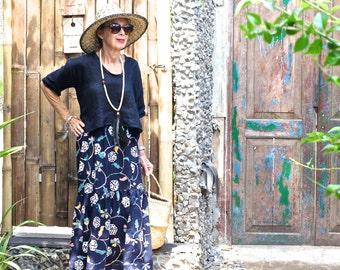COTTON, Batik, Size 10-18, Elasticised Waist