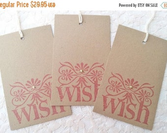 SALE Wedding Wish Tree Tags Kraft Wishing Tree Cards Set of 50
