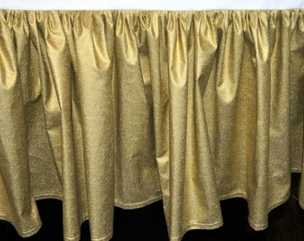 Baby Bedding - Gold Glitz Gathered Crib Skirt