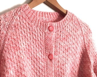 Pink Cardigan Sweater // Vintage