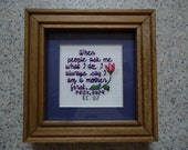 A Mother First - Inspirational Cross Stitch Picture - Wall Decor