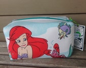Disney Little Mermaid Zipper Pouch Recycled