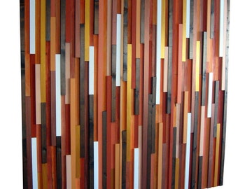 Oversized Wall Art - Orange Wall Art, Wood Wall Art, Wood Sculpture, Modern Decor, Home And Living