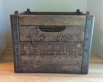 Vintage Wooden Milk Bottle Crate #C