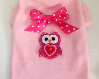 Guess Whoo Loves You Valentine Dog Shirt Clothes Size XXXS through Medium by Doogie Couture