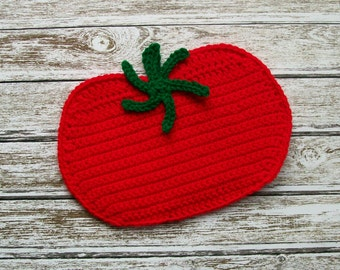 Tomato Pot Holder potholder hot pad trivet Red Vegetable handmade kitchen decor wallhanging housewarming gift
