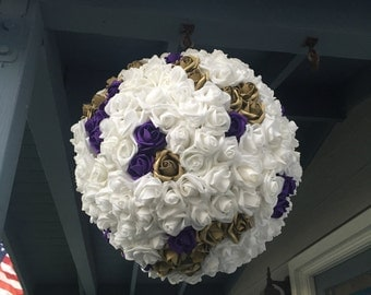 Wedding Pinata Anniversary Pinata Guest Book Alternative White Purple Gold