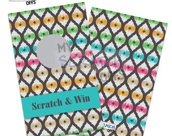 IKAT Scratch Off Game Cards - Multi-Color Scratch & Win Game Card