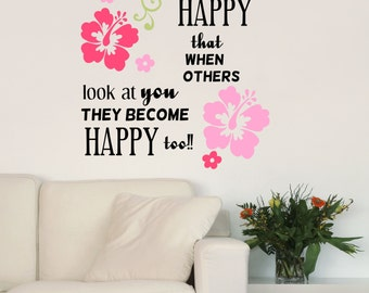 Be So Happy Inspirational Quote Vinyl Wall Decal Sticker V1