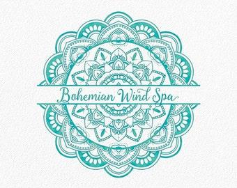 Mandala Logo Yoga Logo Tribal Logo Boho Logo Ethnic Logo Bohemian Logo Native Logo Watermark Circle Henna Doula Custom Logo Boutique #PL19