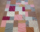 Quilt Top : Pinks and Browns Handmade/Unfinished