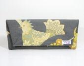 Nana handmade grey bird Casey clutch
