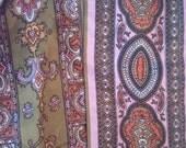 SALE Valley of the Dolls Jacqueline Susann paisley scarf 60s op art boho hippie psychdelic