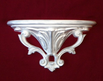 """10"""" White Washed and Platinum Accent Shelf"""